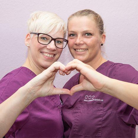Zahnärzte Datteln - zwei Frauen - Praxis
